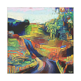 Vista Road - Stretched Canvas Print