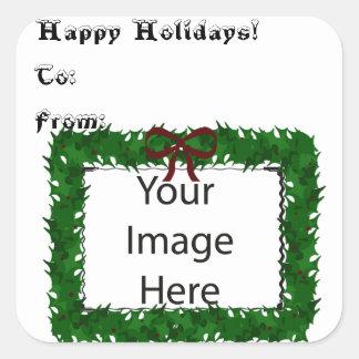 Visual Cue Gift Card Square Sticker