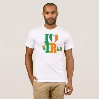 Visual Limerick like a Kiss - I ❤ Irish Girls T-Shirt
