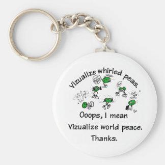 Visualize Whirled Peas - Customized Keychain