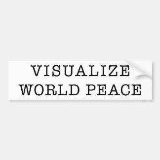 Visualize World Peace bumper sticker Car Bumper Sticker