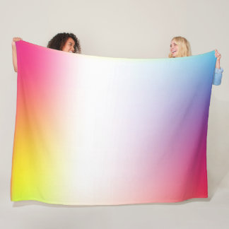 Vital, friendly gradient colors fleece blanket