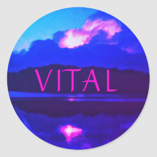 VITAL PINK LIGHTNING STICKER