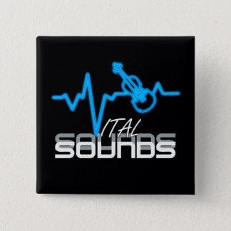 Vital Sounds Violin ID282 2 Inch Square Button