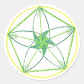 Vitality Mandala #2 Classic Round Sticker