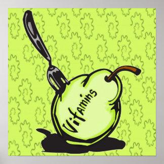 Vitamins In Fruit Poster