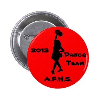 Vitesse d'équipe de danse de lycée badge avec épingle