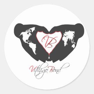 Vitiligo Bond Awareness Line Classic Round Sticker