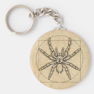 Vitruvian Arachnid Keychain