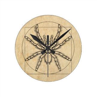 Vitruvian Arachnid Round Clock