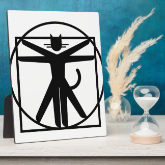 vitruvian cat plaque