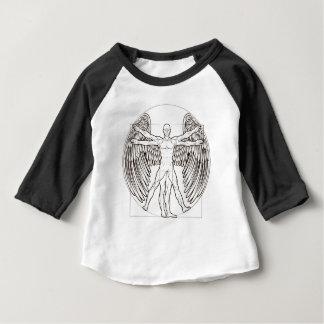 Vitruvian Man Angel Baby T-Shirt