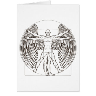 Vitruvian Man Angel Card