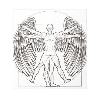 Vitruvian Man Angel Notepad