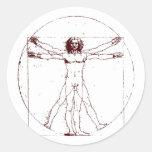 Vitruvian Man BRK Round Sticker