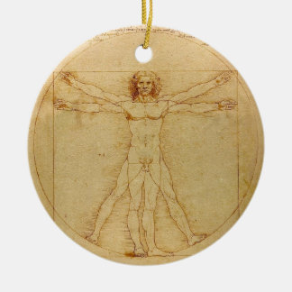 Vitruvian Man by Leonardo da Vinci Ceramic Ornament