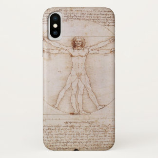 Vitruvian Man by Leonardo da Vinci iPhone X Case