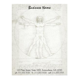 Vitruvian Man by Leonardo da Vinci Letterhead