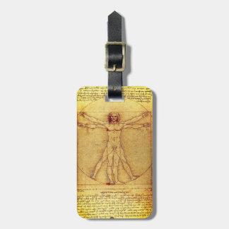 Vitruvian Man By Leonardo Da Vinci Luggage Tag