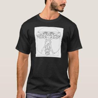 Vitruvian Man Caduceus T-Shirt