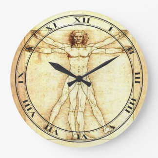 Vitruvian Man Clock