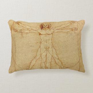Vitruvian Man Decorative Pillow