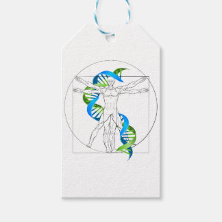 Vitruvian Man DNA Pack Of Gift Tags