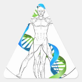 Vitruvian Man DNA Triangle Sticker