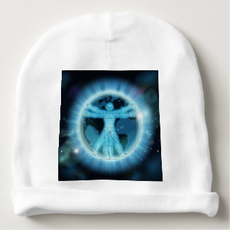 Vitruvian Man Earth World Globe Background Baby Beanie