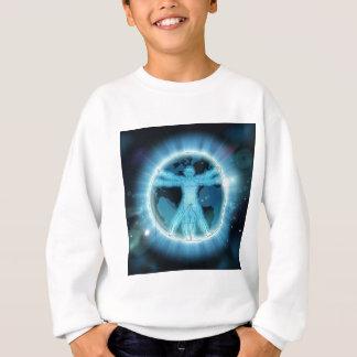 Vitruvian Man Earth World Globe Background Sweatshirt