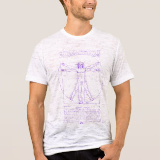Vitruvian Man Fitted Burnout Tee