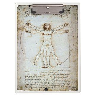 Vitruvian Man, Leonardo da Vinci, circa 1490. Clipboard