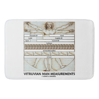 Vitruvian Man Measurements Leonardo da Vinci Bath Mat