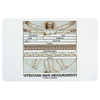 Vitruvian Man Measurements Leonardo da Vinci Floor Mat