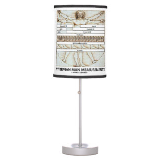 Vitruvian Man Measurements Leonardo da Vinci Table Lamp