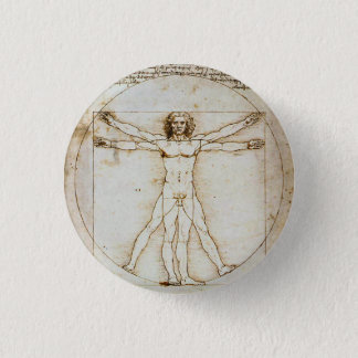 Vitruvian Man Tiny Button
