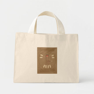 Vitruvian Monkey Tote Bag