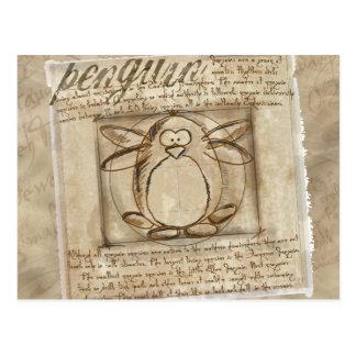 Vitruvian Penguin Postcard