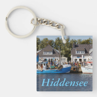 Vitte Harbour on Hiddensee in Mecklenburg Vorpomme Double-Sided Square Acrylic Keychain