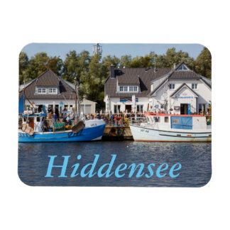 Vitte Harbour on Hiddensee in Mecklenburg Vorpomme Rectangular Photo Magnet