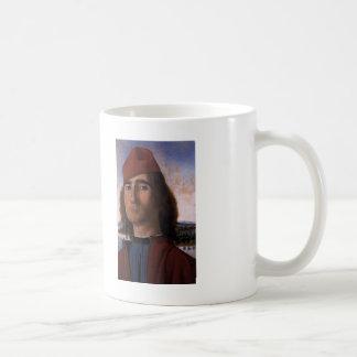 Vittore Carpaccio- Portrait of Man with Red Beret Coffee Mug