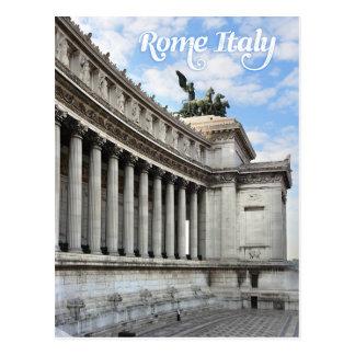 Vittorio Emanuele monument in Rome Italy Postcard