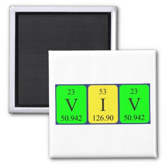 Viv periodic table name magnet