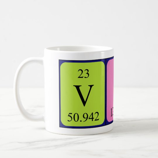 Viv periodic table name mug