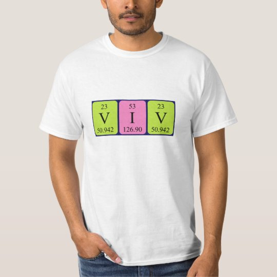 Viv periodic table name shirt