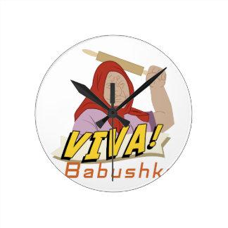 Viva Babushka Clock