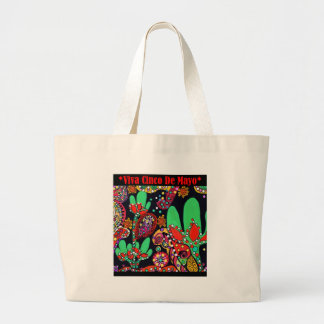 VIVA CINCO DE MAYO ART LARGE TOTE BAG