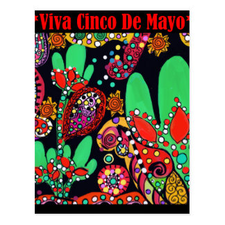 VIVA CINCO DE MAYO ART POSTCARD