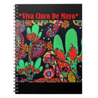 VIVA CINCO DE MAYO ART SPIRAL NOTEBOOK