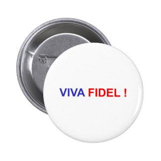 Viva Fidel 2 Inch Round Button